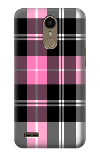Printed Pink Plaid Pattern LG K10 (2018) Case