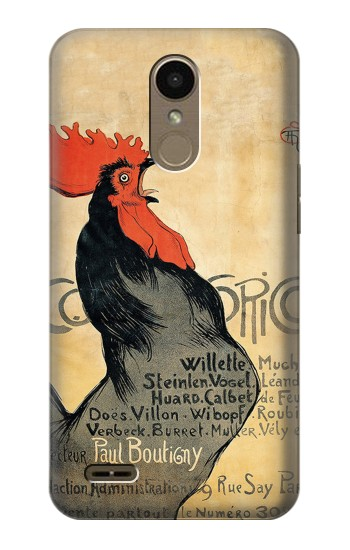 Printed Cocorico Rooster Vintage French Poster LG K10 (2018) Case