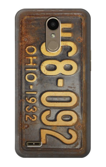 Printed Vintage Car License Plate LG K10 (2018) Case