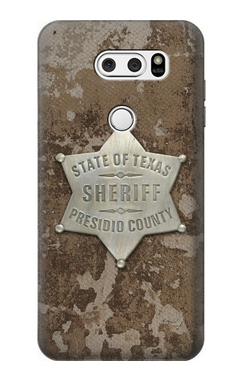 Printed Texas Presidio County Sheriff Badge LG V30S ThinQ Case