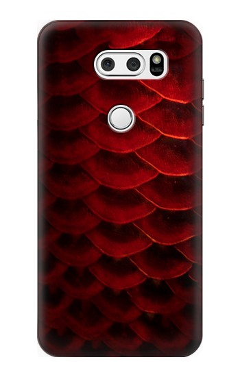 Printed Red Arowana Fish Scale LG V30S ThinQ Case