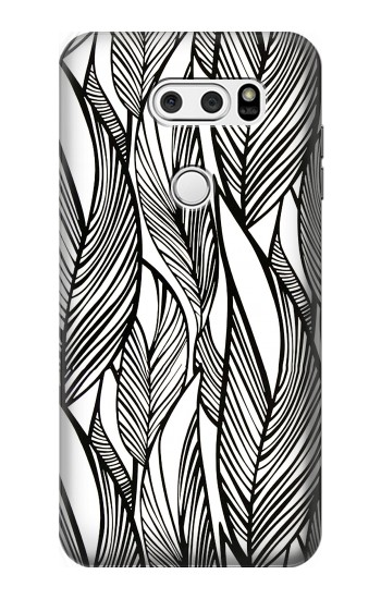 Printed Jungle Leaf Pattern LG V30S ThinQ Case