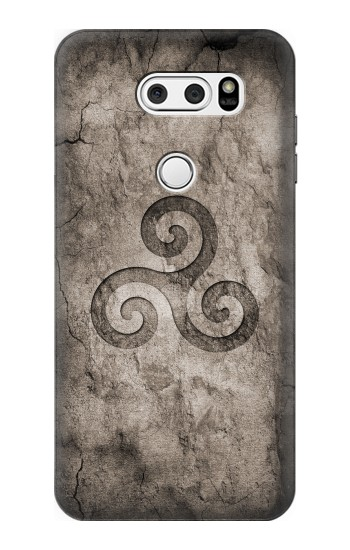 Printed Triskele Symbol Stone Texture LG V30S ThinQ Case