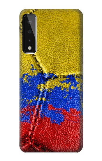Printed Colombia Flag Vintage Football 2018 LG Stylo 7 5G Case