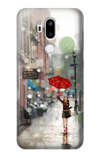 Printed Girl in The Rain LG G7 ThinQ Case