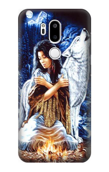 Printed Grim Wolf Indian Girl LG G7 ThinQ Case