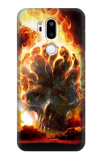 Printed Hell Fire Skull LG G7 ThinQ Case