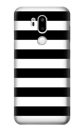 Printed Black and White Striped LG G7 ThinQ Case