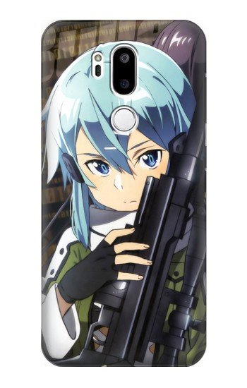 Printed Sword Art Online Gun Gale Online Sniper Sinon Asada Shino LG G7 ThinQ Case