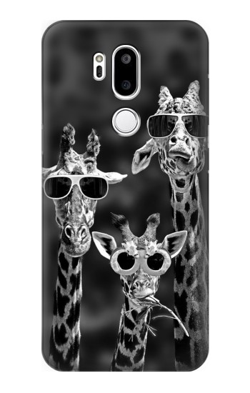 Printed Giraffes With Sunglasses LG G7 ThinQ Case
