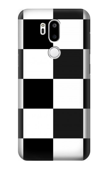 Printed Black and White Checkerboard LG G7 ThinQ Case