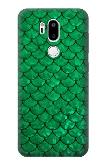 Printed Green Fish Scale Pattern LG G7 ThinQ Case