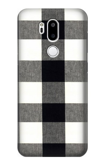 Printed Black and White Buffalo Check Pattern LG G7 ThinQ Case