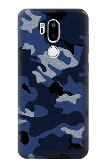 Printed Navy Blue Camouflage LG G7 ThinQ Case