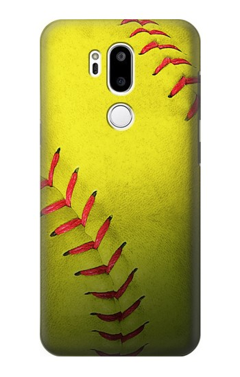 Printed Yellow Softball Ball LG G7 ThinQ Case