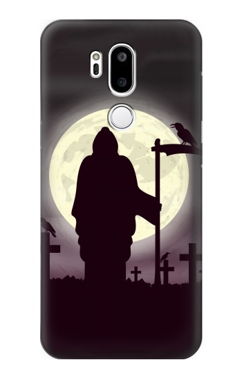Printed Night Moon Cemetery LG G7 ThinQ Case
