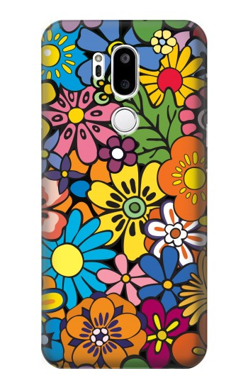 Printed Colorful Flowers Pattern LG G7 ThinQ Case