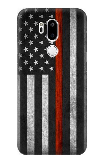 Printed Firefighter Thin Red Line Flag LG G7 ThinQ Case
