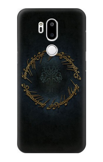 Printed Lord of The Rings Ring Elf Writing LG G7 ThinQ Case