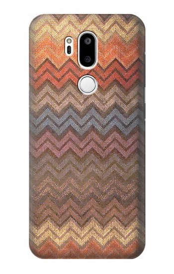Printed Zigzag Fabric Pattern Graphic Printed LG G7 ThinQ Case