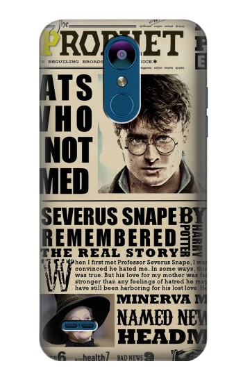 Printed Harry Potter Daily Prophet LG K8 (2018) Case