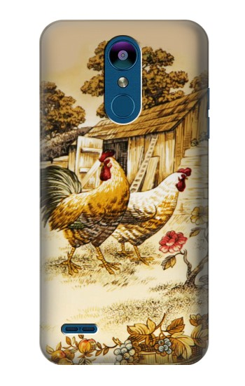 Printed French Country Chicken LG K8 (2018) Case