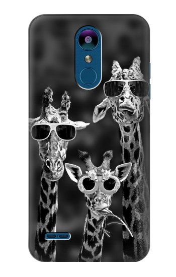 Printed Giraffes With Sunglasses LG K8 (2018) Case
