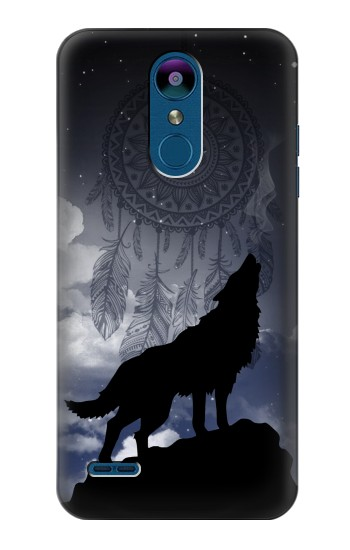 Printed Dream Catcher Wolf Howling LG K8 (2018) Case