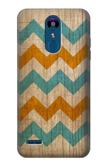 Printed Vintage Wood Chevron LG K8 (2018) Case