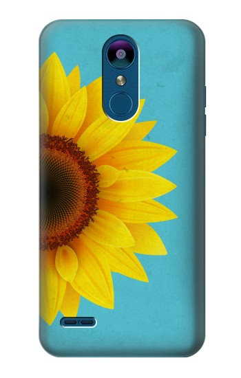 Printed Vintage Sunflower Blue LG K8 (2018) Case