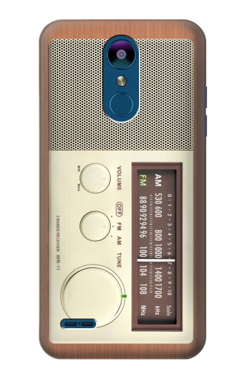 Printed FM AM Wooden Receiver Graphic LG K8 (2018) Case