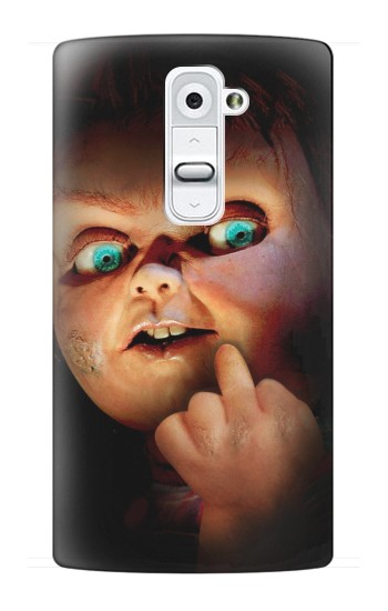 Printed Chucky Middle Finger LG G2 Case