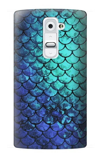 Printed Green Mermaid Fish Scale LG G2 Case