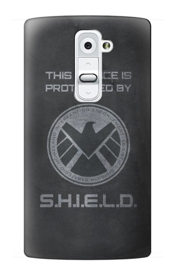 Printed This Device is Protected by Shield LG G2 Case