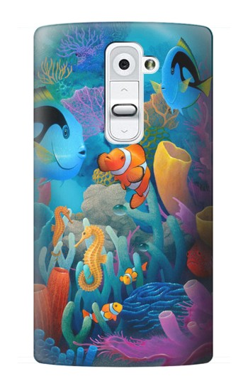 Printed Underwater World Cartoon LG G2 Case