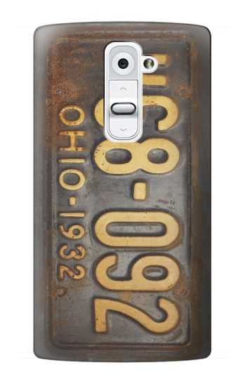 Printed Vintage Car License Plate LG G2 Case