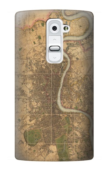 Printed Vintage Map of London LG G2 Case