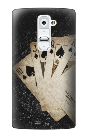 Printed Vintage Royal Straight Flush Cards LG G2 Case