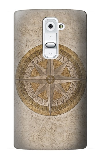 Printed Windrose Circle Stamp LG G2 Case