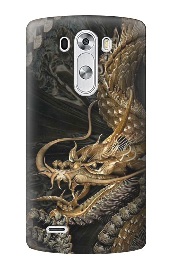 Printed Gold Dragon LG G3 Case