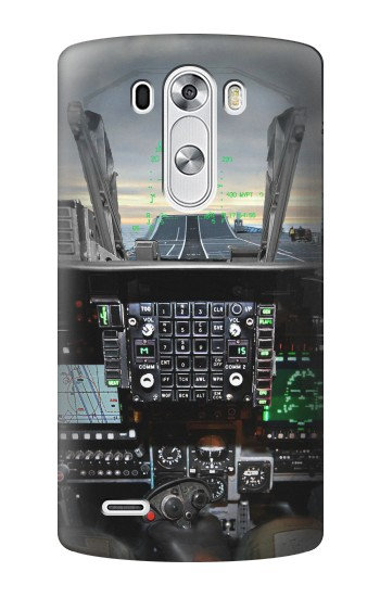 Printed Fighter Jet Aircraft Cockpit LG G3 Case