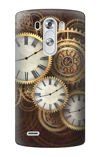 Printed Gold Clock Live LG G3 Case
