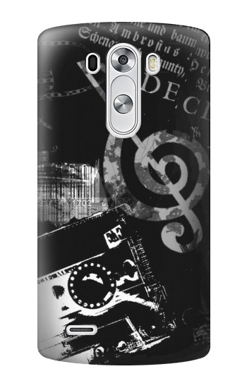 Printed Music Cassette Note LG G3 Case