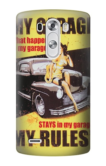 Printed My Garage Pinup Girl LG G3 Case