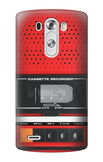 Printed Red Cassette Recorder Graphic LG G3 Case