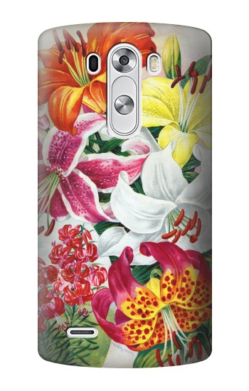 Printed Retro Art Flowers LG G3 Case