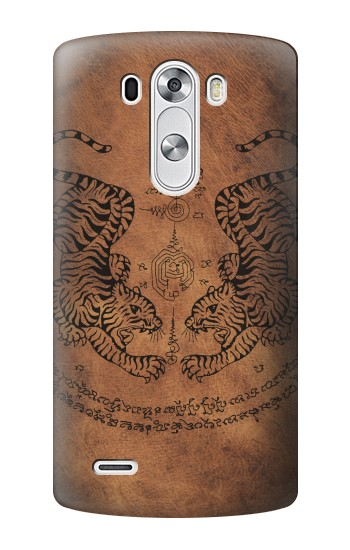 Printed Sak Yant Twin Tiger LG G3 Case