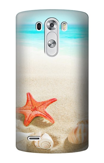Printed Sea Shells Starfish Beach LG G3 Case