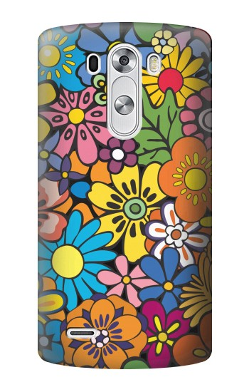 Printed Colorful Flowers Pattern LG G3 Case