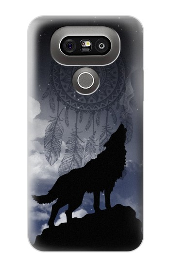 Printed Dream Catcher Wolf Howling LG G5 Case
